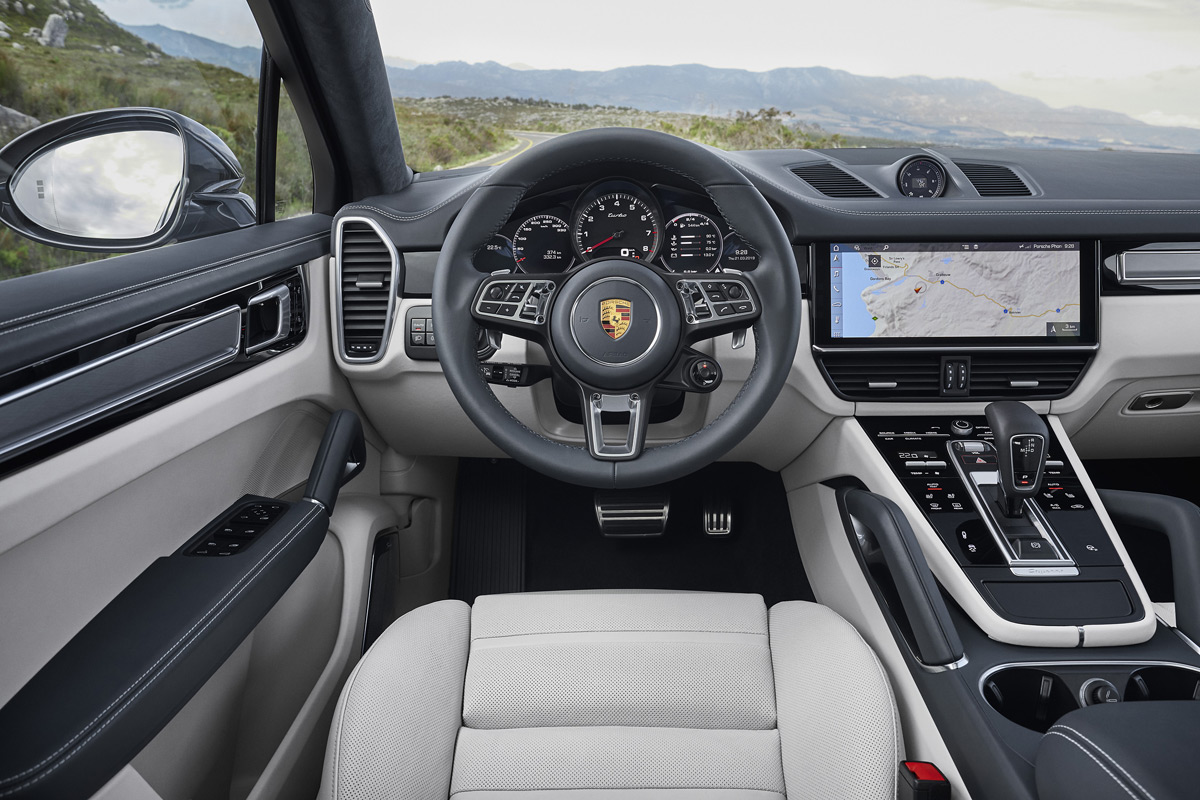 2020 Porsche Cayenne Turbo Coupe interior