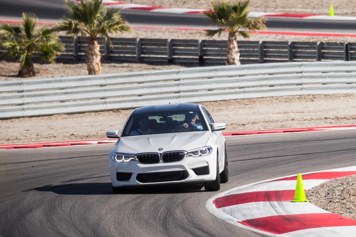 BMW M School - White M5 On Track
