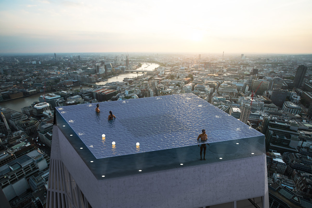 Infinty London rooftop pool