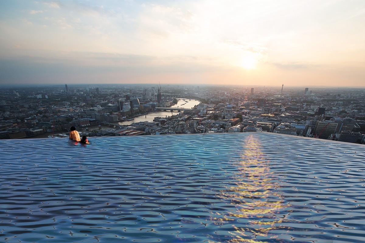 Infinty London rooftop pool