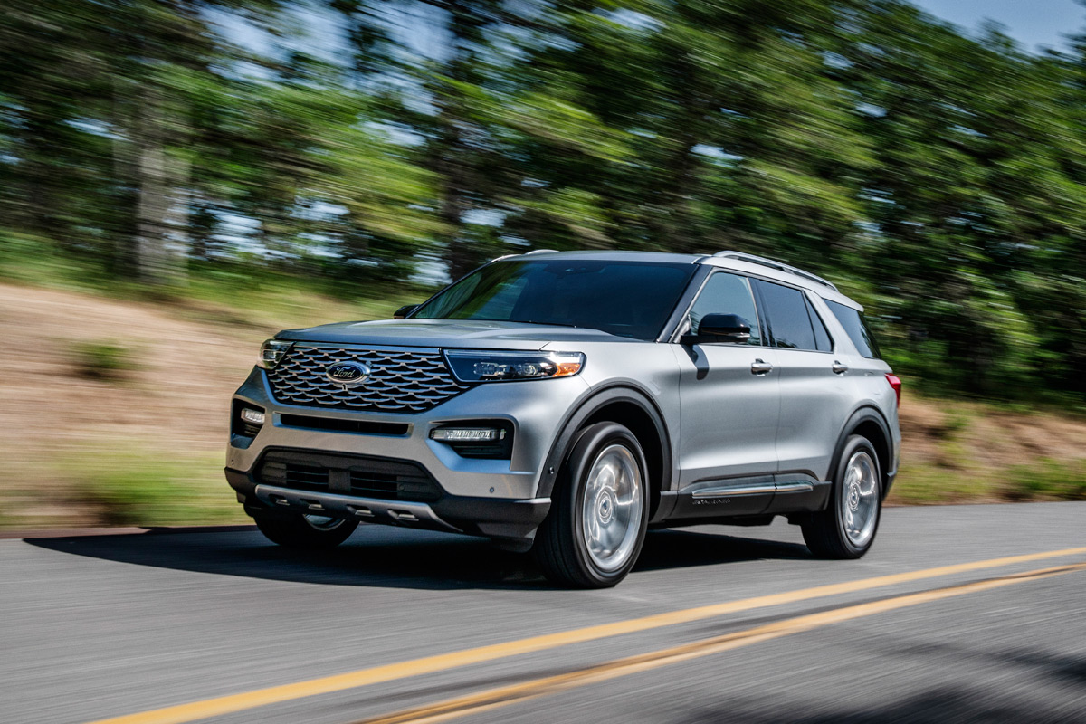 2020 Ford Explorer in Iconic Silver