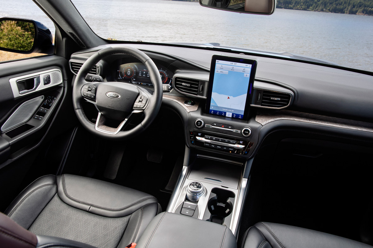 2020 Ford Explorer interior with 10.1-inch touch screen