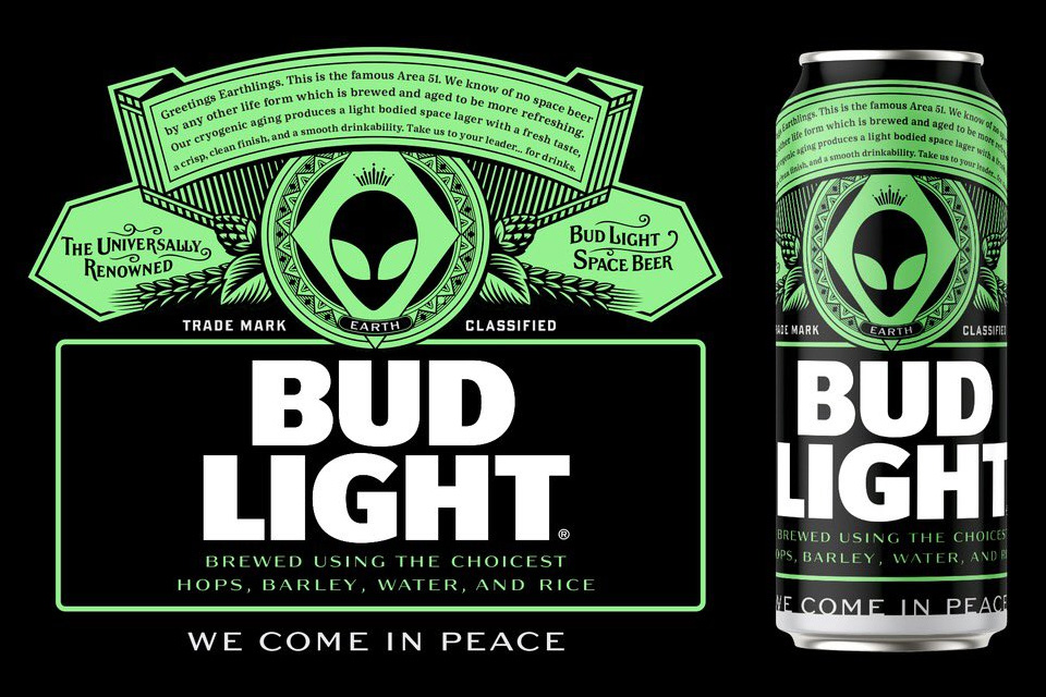 Bud Light Area 51 Special Edition Label