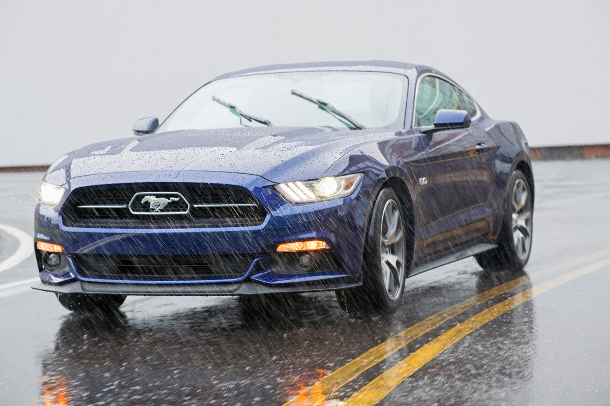 Goodyear Eagle Exhilarate Ultra-High Performance Tires mounted on a Mustang GT