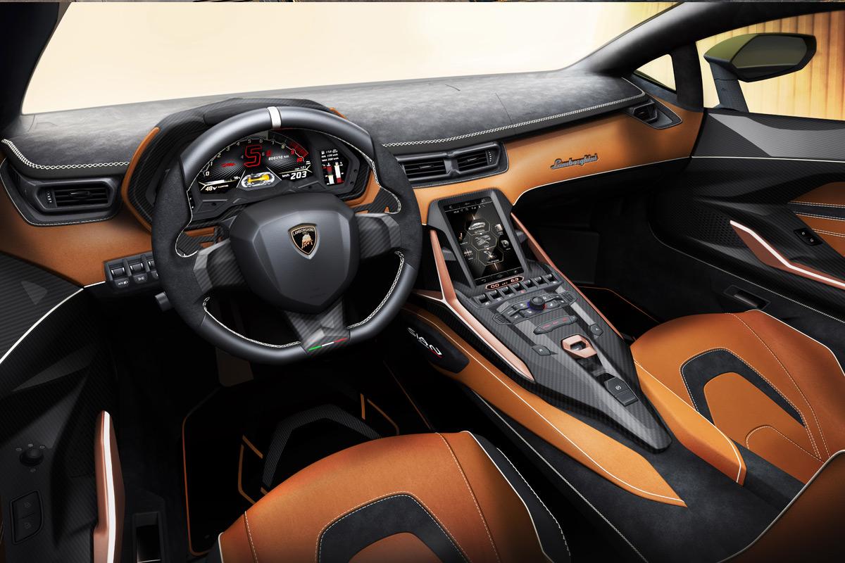 Lamborghini Sián interior