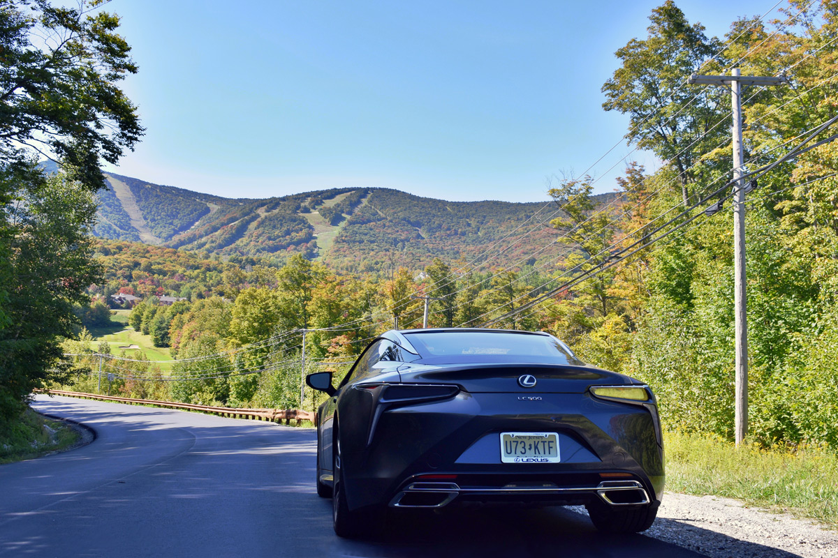 2019 Lexus LC 500 road trip to Vermont