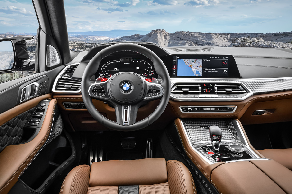 2020 BMW X5 M and X6 M interior