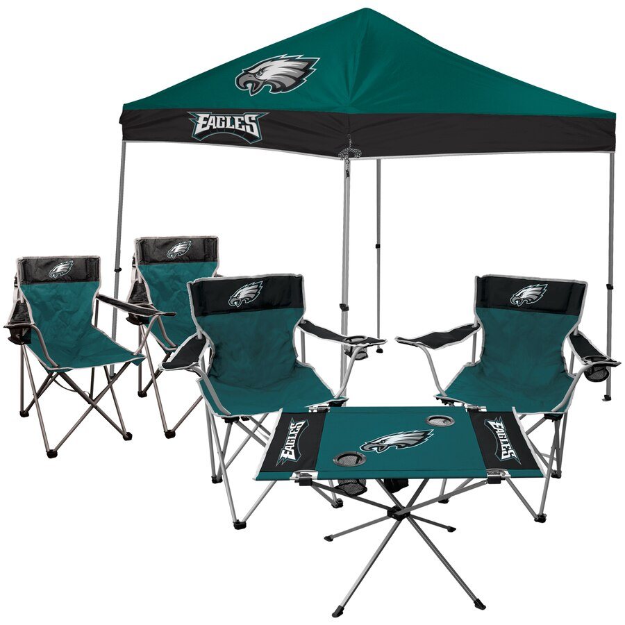 Philadelphia Eagles Rawlings Tailgate Canopy Tent, Table, & Chairs Set