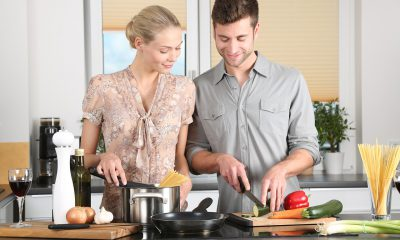 cooking with wife