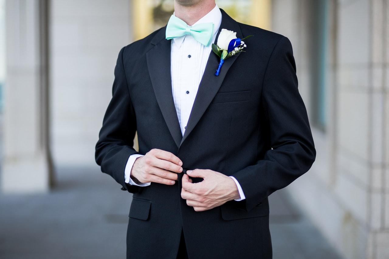 Man wearing tuxedo
