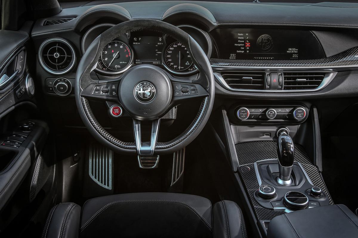 2019 Alfa Romeo Stelvio Quadrifoglio interior