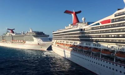 Carnival Glory and Carnival Legend Collision in Mexico