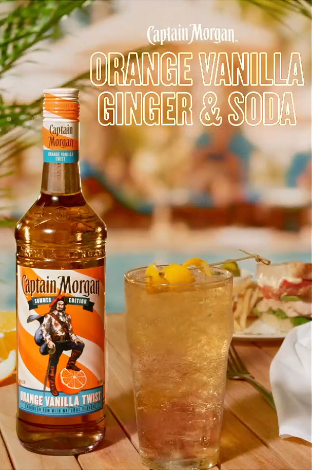 Captain Morgan Orange Vanilla Ginger & Soda