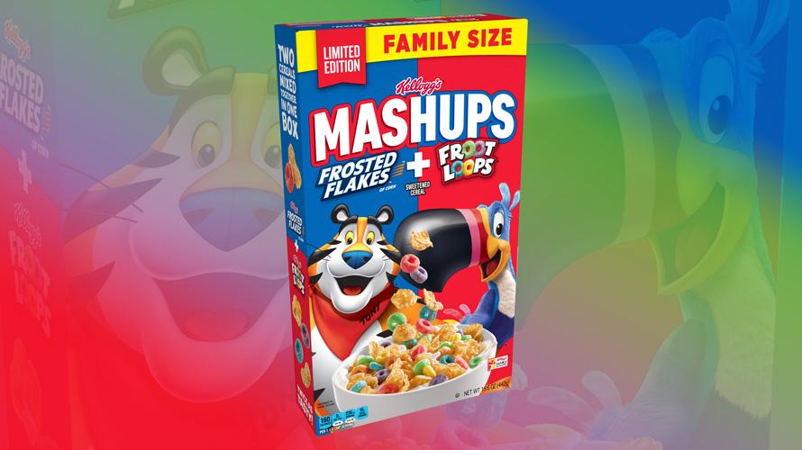 Kellogg's Mashups Frosted Flakes + Froot Loops