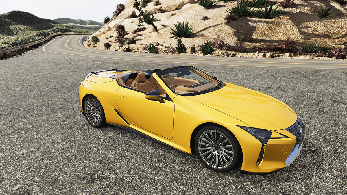 Lexus LC Convertible with TRD parts