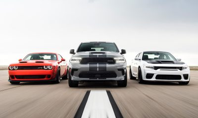 Dodge Challenger SRT Super Stock, Durango Hellcat, and Charger Hellcat Redeye