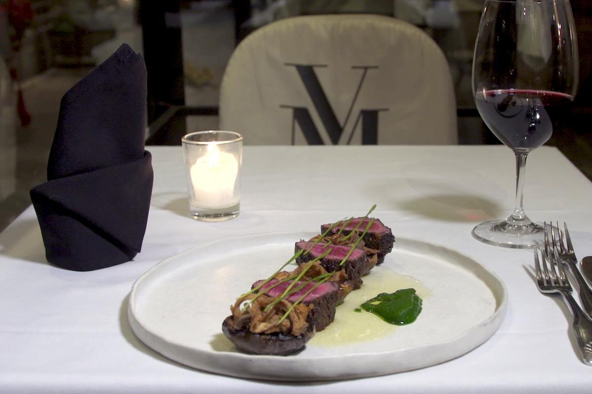 Steak dish at V. Mertz