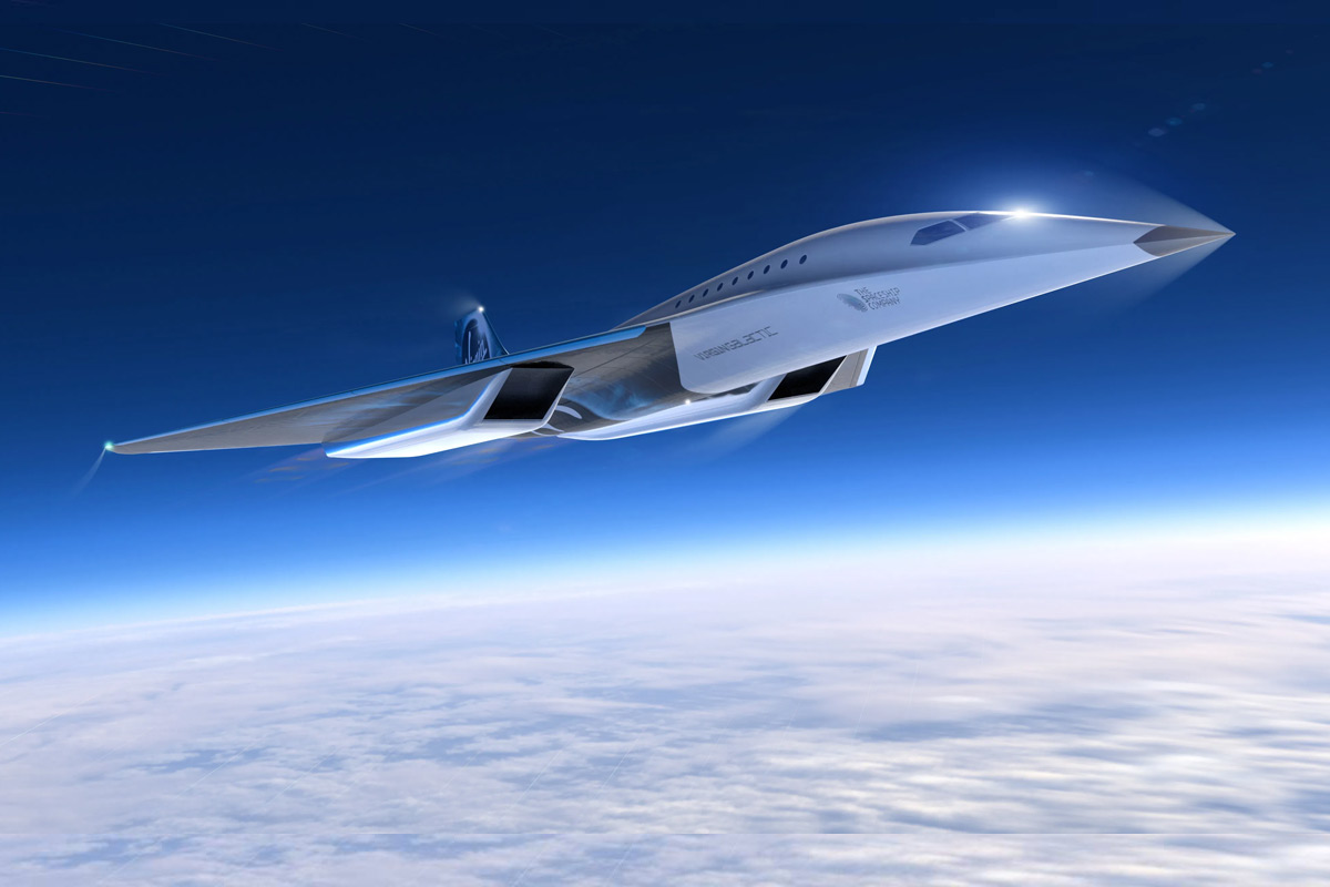 Virgin Galactic Mach 3 High Speed Aircraft
