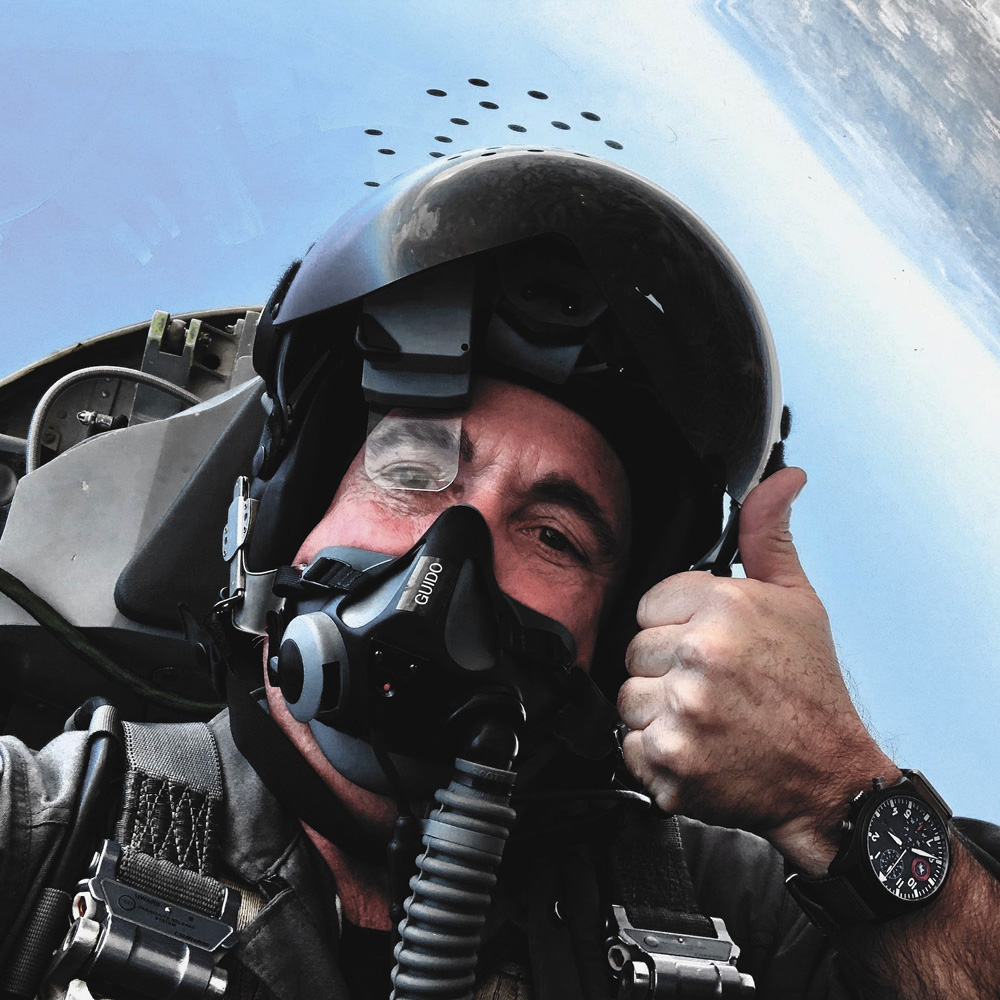 IWC Pilot Giving Thumbs Up