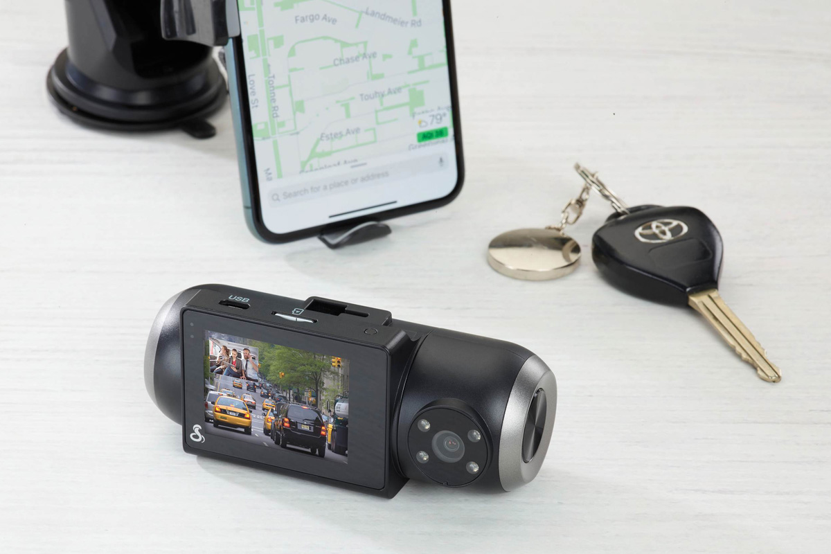 Cobra SC 201 Dual-View Smart Dash Cam