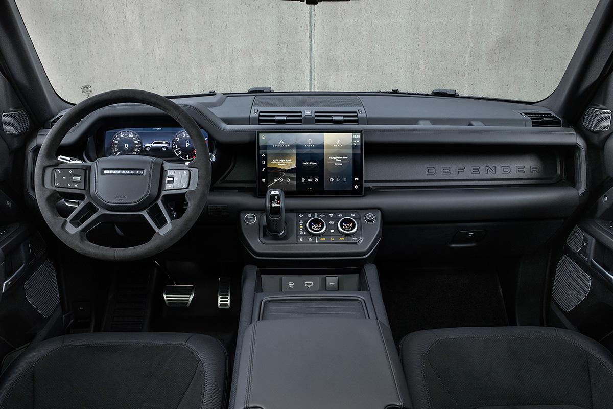 2022 Land Rover Defender V8 interior