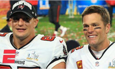 Super Bowl LV - Tom Brady and Rob Gronkowski