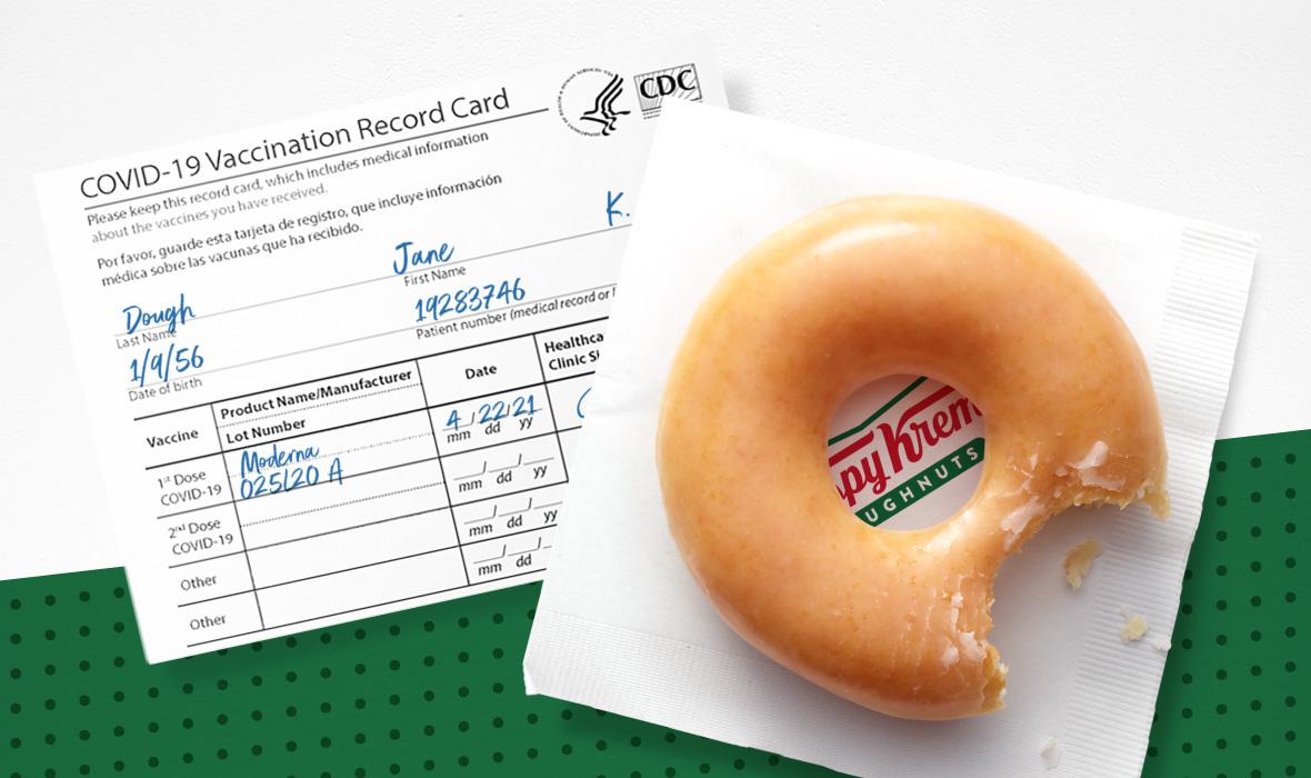 Krispy Kreme COVID-19 Vaccination Offer