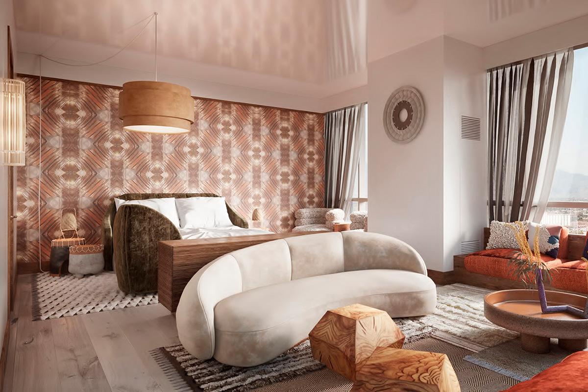 Virgin Hotels Las Vegas - Richards Flat Bedroom