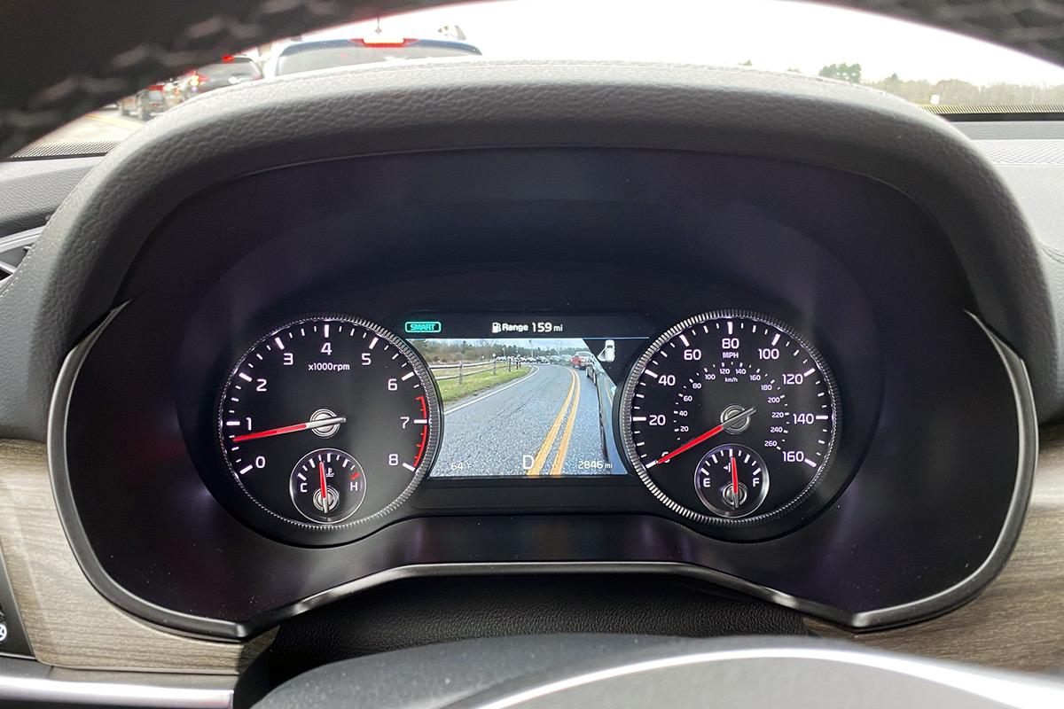 2021 Kia Telluride blind spot view monitor