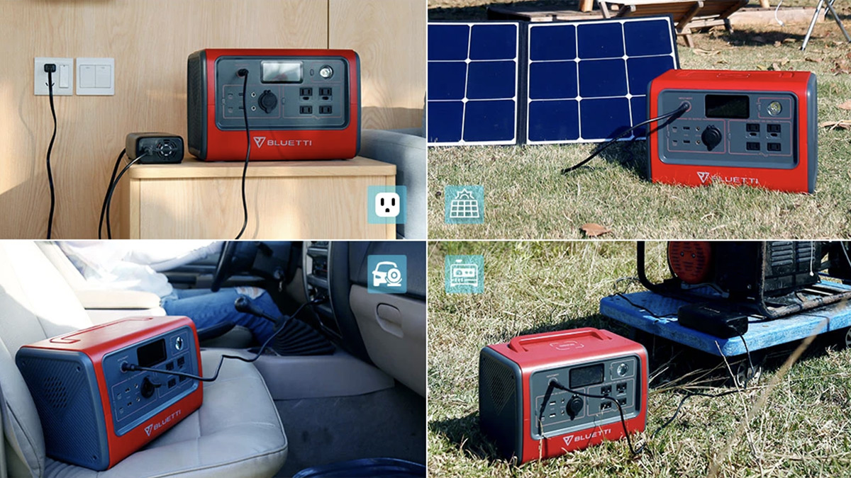 BLUETTI EB70 Portable Power Station - Ways To Recharge