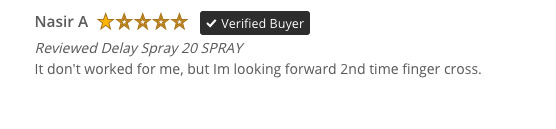 Negative review of Promescent Delay Spray on Reviews.io