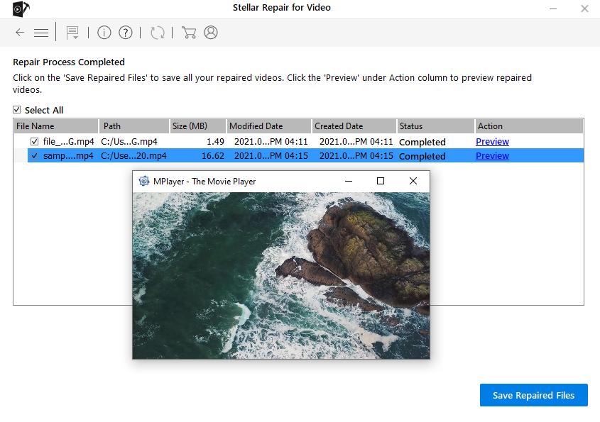 Stellar Repair For Video - Preview Repaired File
