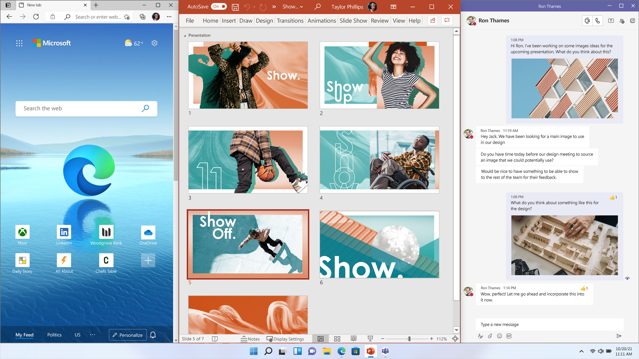 Windows 11 - Snap Desktop Screen