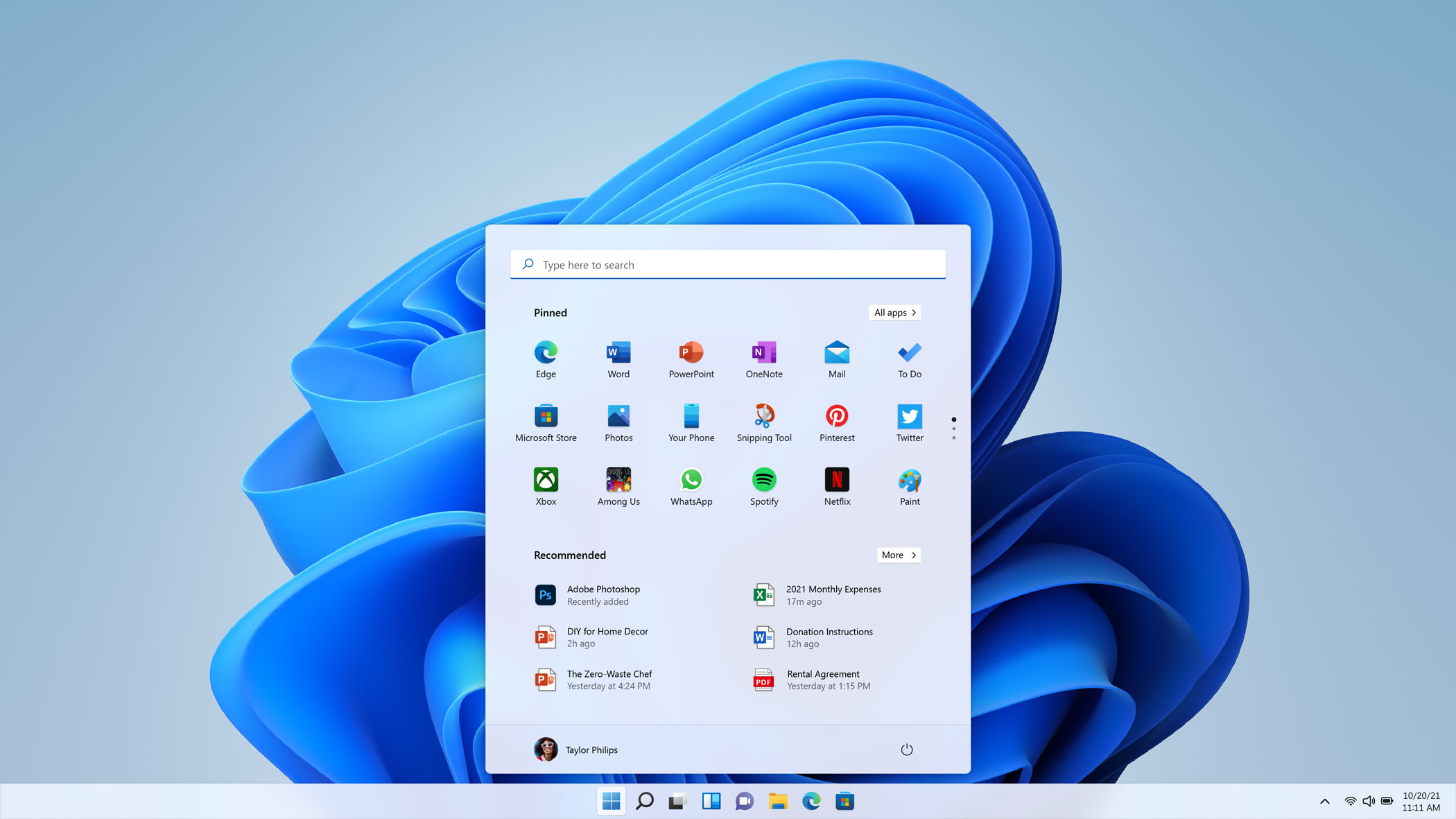 Windows 11 - Start Menu