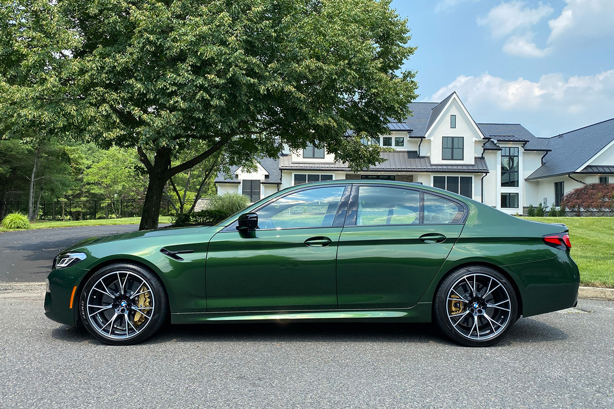 2021 BMW M5 Competition in Verde Ermes Pearl Metallic