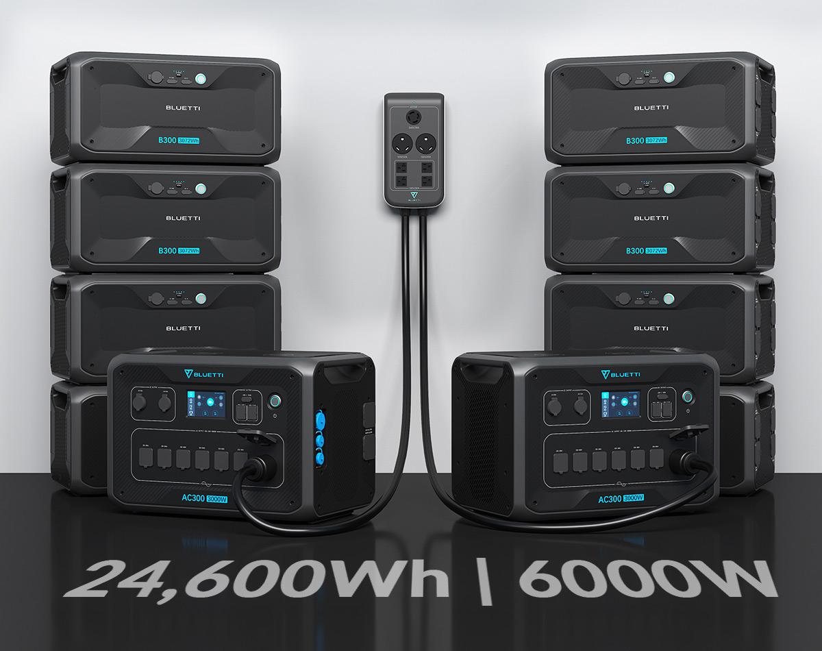 BLUETTI AC300 with B300 battery packs