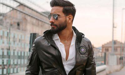 Guy Wearing Leather Jacket