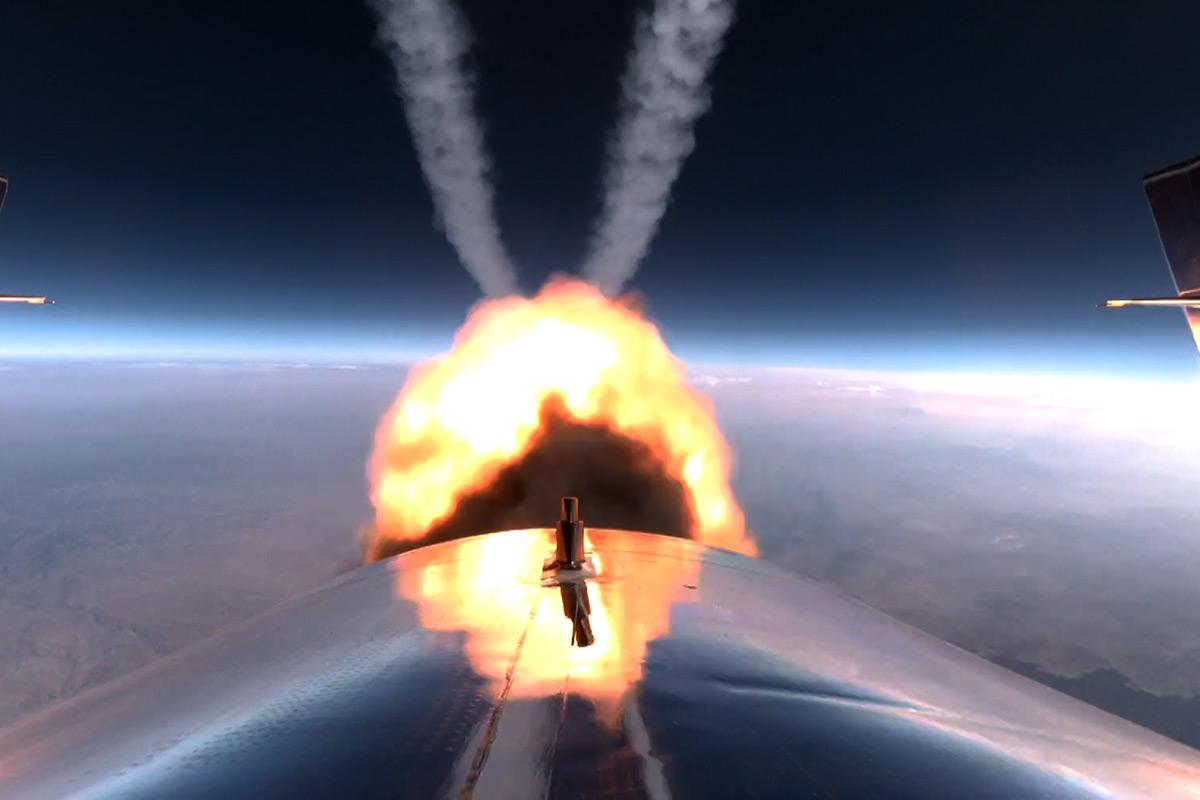 Virgin Galactic - VSS Unity rocket motor burn