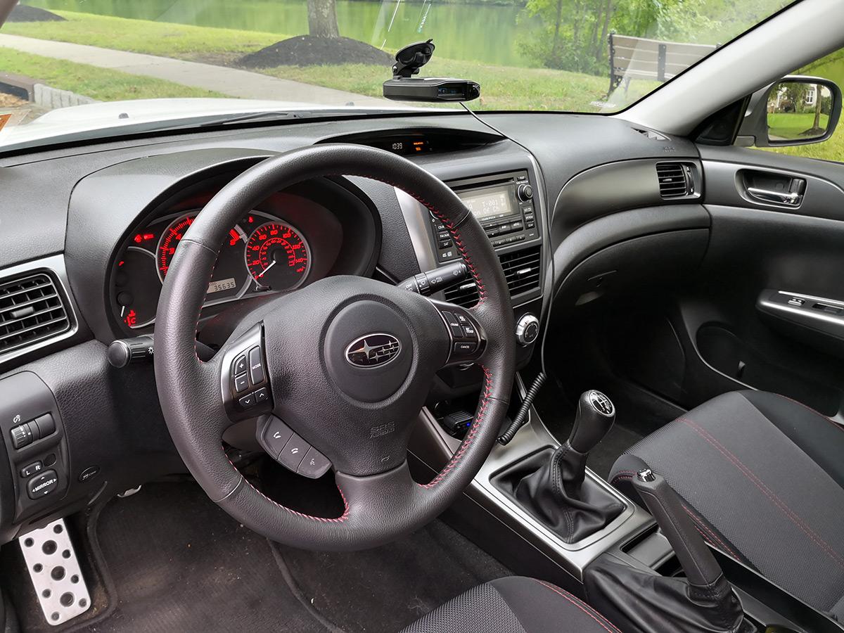 2011 Subaru WRX interior