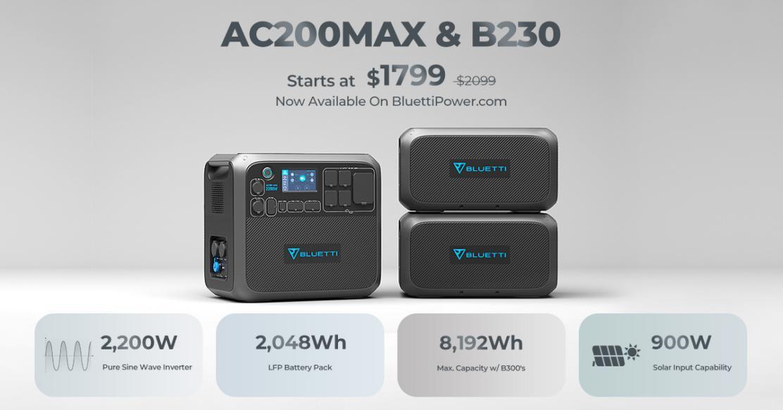 BLUETTI AC200Max and B230 sale
