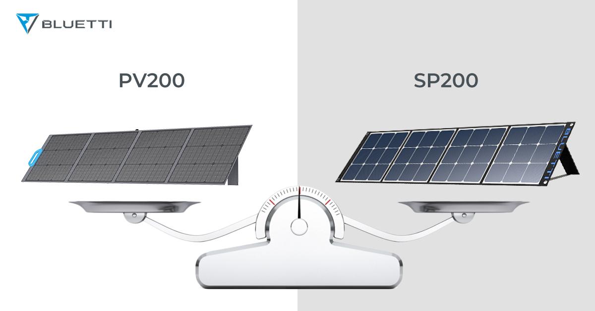 BLUETTI PV200 vs. SP200